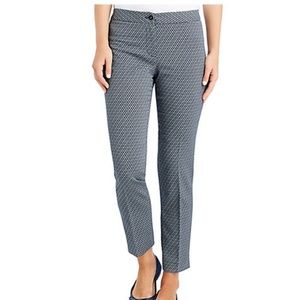 J.McLaughlin Diamond Patterned Pant - Size 8